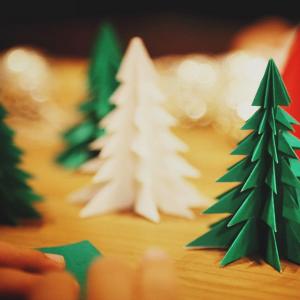 折り紙クリスマスツリーの折り方は!難易度1から難易度4まで!
